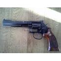 Revolver S&W, arme d'ocasion, modèle 586, calibre 38sp/357mag, canon 6'', catégorie B1
